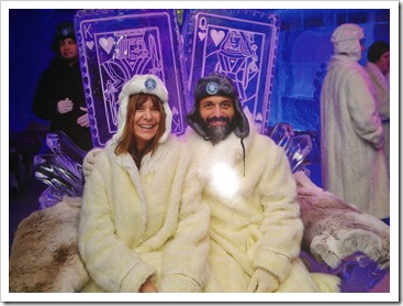 With Marion in the Minus 5 ice bar