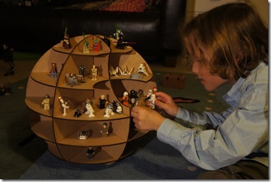 My son playing with his new Death Star