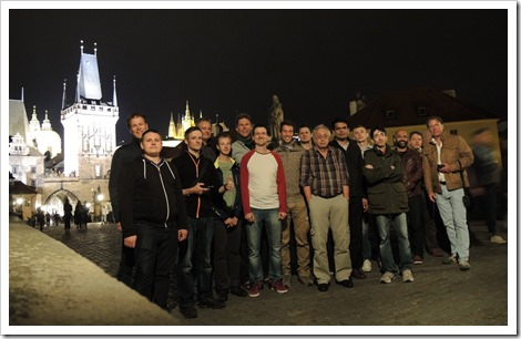 Cloud Accelerator attendees on the Charles bridge in Prague