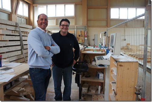 Karel Vinckier (left) with Jean-Marc Ducret (right)