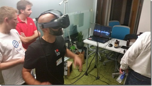 Trying the HTC Vive