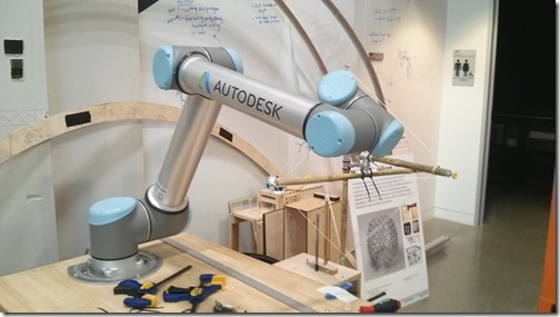 A robot arm to be used at AU 2015