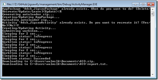 Administering our Activity and its AppPackage