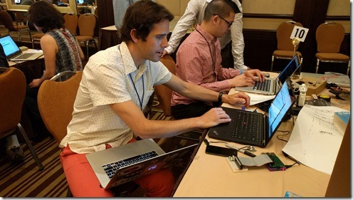Ian Keough multi-tasking
