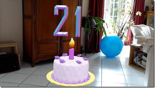 21st anniversary HoloCake