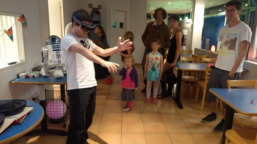People trying HoloLens for the first time