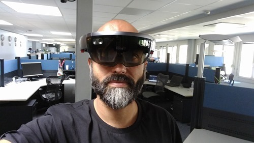 Me looking very serious in my HoloLens