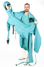 Protective suit for working with Ebola patients