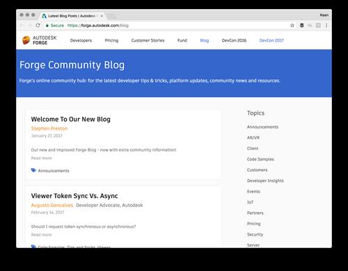 The Forge developer blog