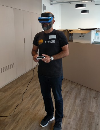 Me trying the Acer VR experience