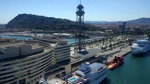 The gondola across Barcelona