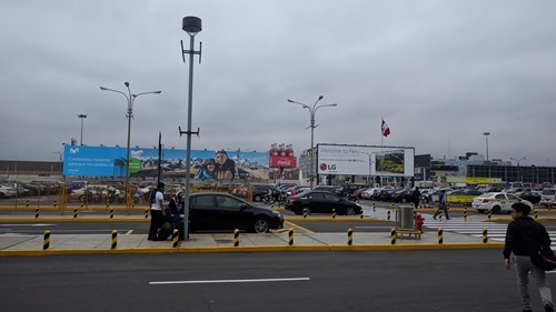 Back in Lima, just passing through