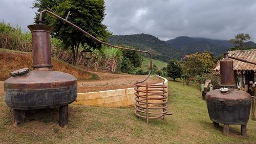 A cachaca distillery