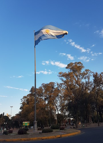 Argentinian flag in Cordoba