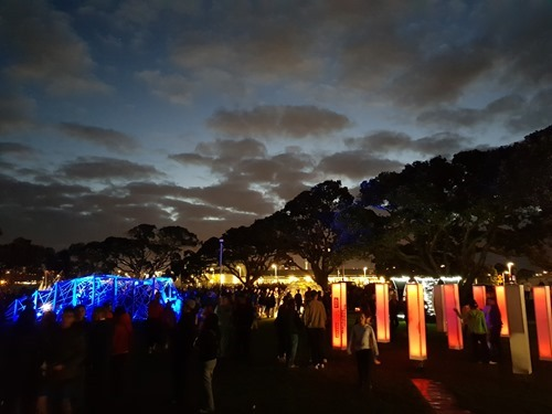 A nice sky over the festival of lights