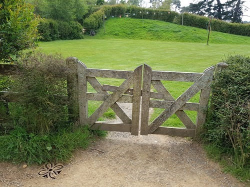 The gate to the party grounds