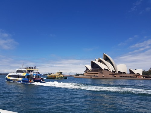 The Opera House from the ferry
