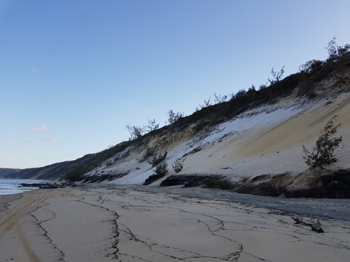 Part of the rainbow beach cliffs... not the most colourful bit