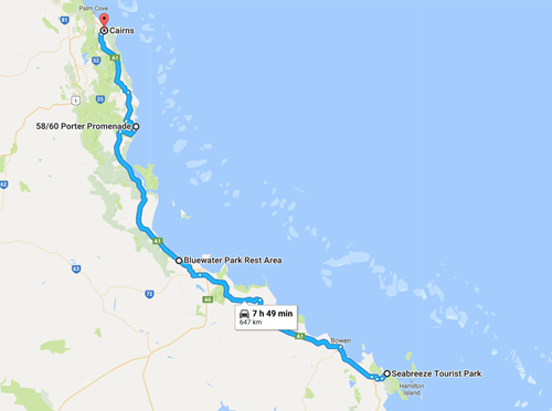 The last stretch up to Cairns