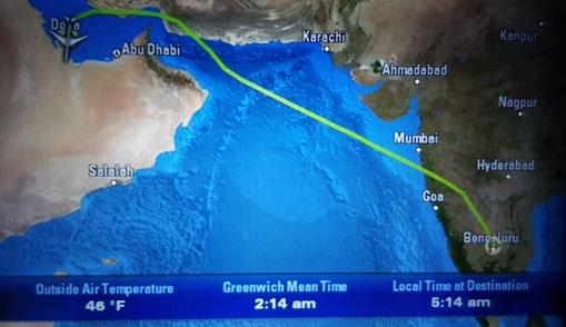 The flight to Doha
