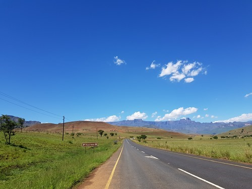 Driving back to the Royal Natal Park, this time with lovely weather