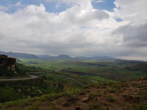 The view from the climb into Golden Gate Highlands National Park