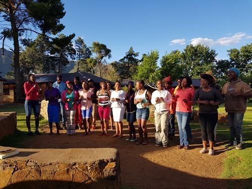 A local choir performs