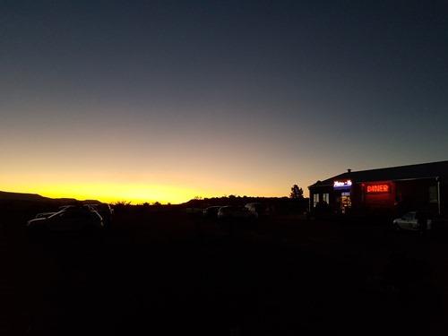 The sun setting in Aliwal North