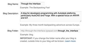Blog configuration