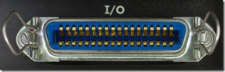 Random retro photo of a 36-pin Centronics parallel printer port