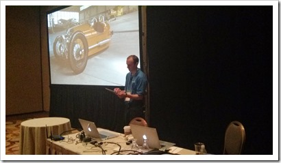 Jason Walter demoing the Morgan configurator
