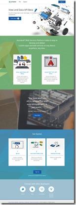 Autodesk Web Services Platform portal
