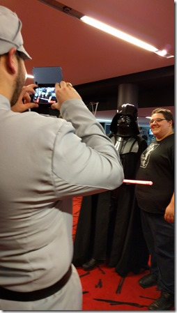 Geeking out at The First Awakens first showing