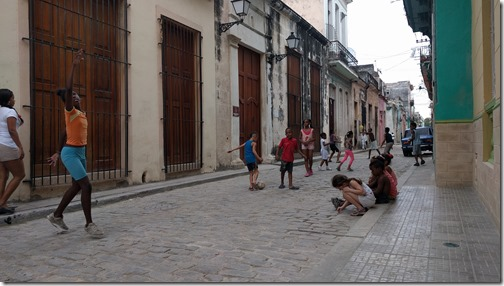 Playing in the street