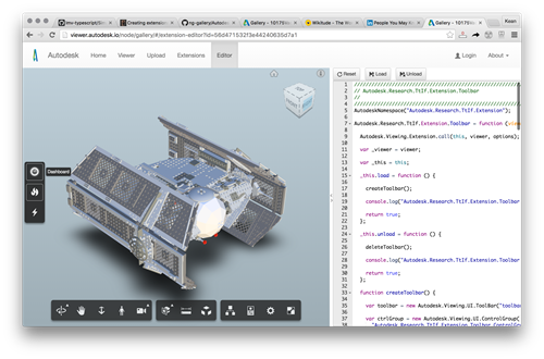 Left-docked toolbar in the Autodesk viewer