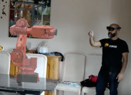 Manipulating a robot in mixed reality