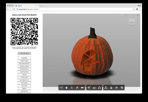 Fusion 360 pumpkin in Vrok-It