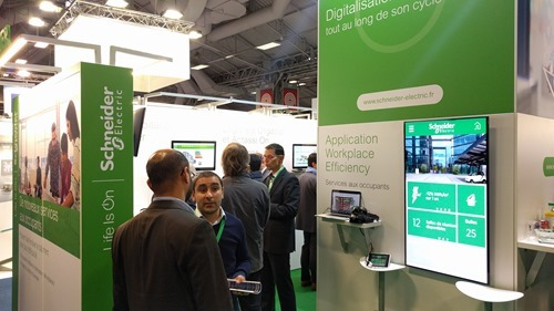 My mini-pod on the Schneider Electric stand
