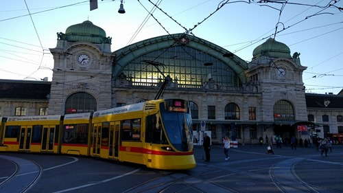Our tram in Basel