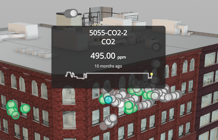 A tooltip on our sensor point cloud un Dasher 360