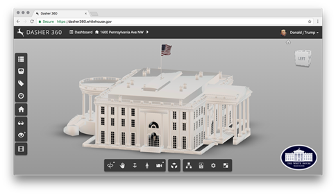 The White House in Dasher 360