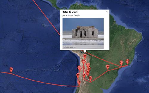 Information about the Salar de Uyuni in Bolivia