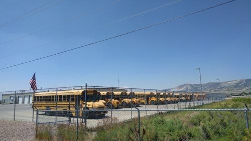 School buses in Rock Springs
