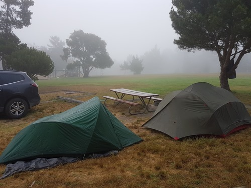 Our campsite in Monterey