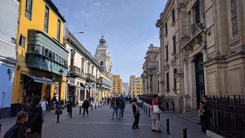 A tourist area of old Lima