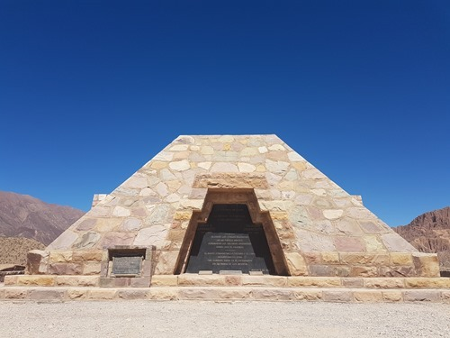 Monument to the archaeologists who discovered the site