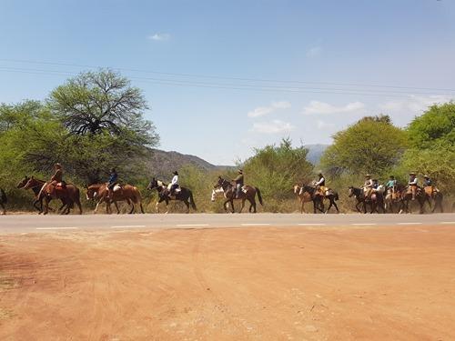 More pilgrims on horseback