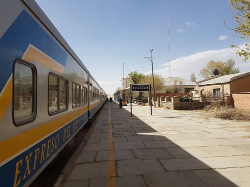 Our train to Uyuni