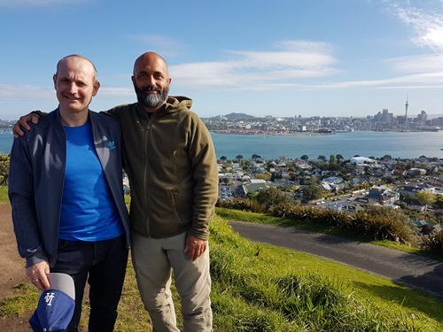 On the top of Mount Victoria