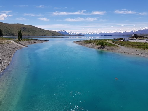 A river feeding Lake Tekapo